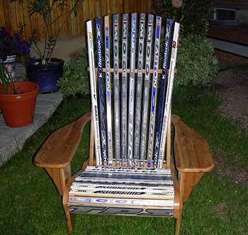 hockey stick chair plans