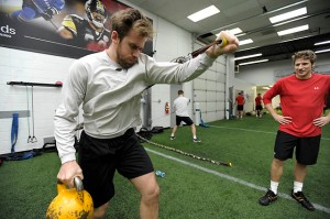 Likely new Red Wings captain Henrik Zetterberg hits the gym this week. Pic: Detroit Free Press.