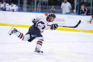 Jason Baclig in action for the Ice. Pic: Hewitt Sports Network.