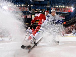 How awesome is this shot, by the Detroit News, from Wings v Canucks this week?