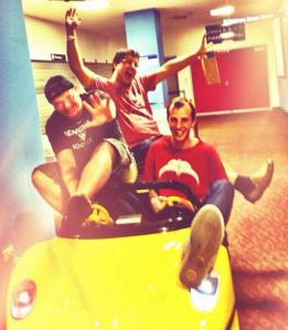 Liam, Wunders and Charlie taking hospital life seriously late last year.