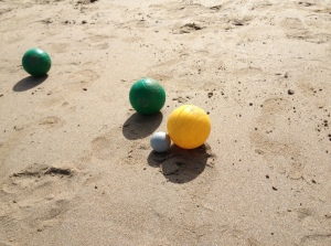 Petanque - an excellent use of sand.