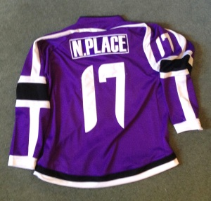 The back of the Jets jersey, with the crazy numbering font.