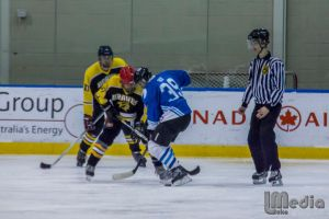 Taking a face-off for The Braves. Pic Luke Milkovic.