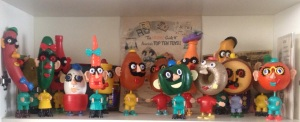 My Sixties Potato Head collection: now showing in my office. How do you like them apples of the earth, MisterSpud?