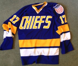 If you've seen 'Slap Shot', you know this jersey. If you haven't, go watch 'Slap Shot'.