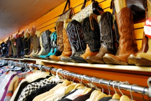 The awesome Williamsburg cowboy boot shop. New York, 2008.