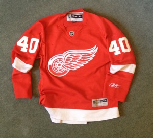 My first hockey jersey: Hank Zetterberg, 2009.