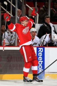 Tomas Jurco celebrates knowing he's pretty much NHL ready. Pic: Ducks website.