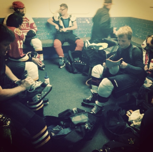 The Cherokees gather for post-break training. Pic: Alex McNab (instagram)