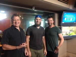 Great moments of Australian radio: Richard Stubbs, Lliam Webster and Nicko Place, in the 774 studio.