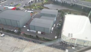 Well, look at this view from the Melbourne Eye wheel: a giant rink-sized building two sheds to the left from the Icehouse. Does Victoria really even have a film industry needing such a huge sound stage? I say: freeze it, now. Picture: Nicko