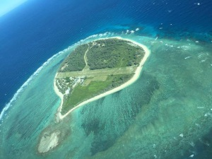 Lady Elliot Island - so small that the strip across the middle is the runway.