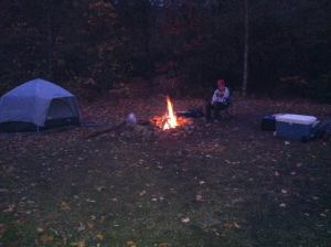 Camping by the South Toe River, North Carolina. Bear country. 2011.