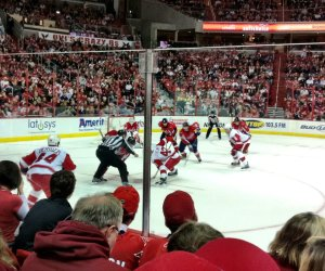 Good seats at my first ever NHL game. Shame about the scoreline. Pic: Nicko