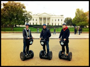 Yes, we segwayed Washington. Not even sorry.