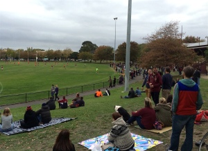 A big crowd in for the 'Roys at home on a perfect autumn afternoon. Shame they lost. Pic: Nicko