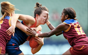 Hello elite women's footy. Goodbye noses. Pic: Getty