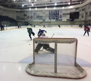 The Ice working on shots, Tuesday before finals weekend.