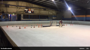 Cracked ice on Monday night.